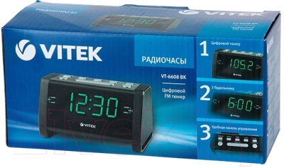 Радиочасы Vitek VT-6608 BK