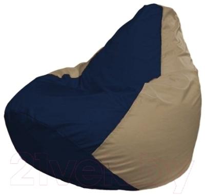 Бескаркасное кресло Flagman Груша Макси Г2.1-39 (темно-синий/темно-бежевый)