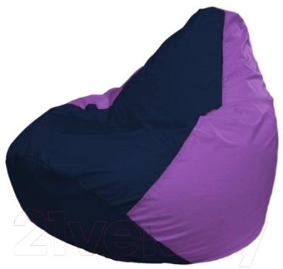 Бескаркасное кресло Flagman Груша Макси Г2.1-40 (темно-синий/сиреневый)