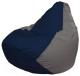 Бескаркасное кресло Flagman Груша Макси Г2.1-41 (темно-синий/серый) -