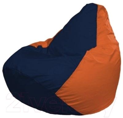 Бескаркасное кресло Flagman Груша Макси Г2.1-45 (темно-синий/оранжевый)