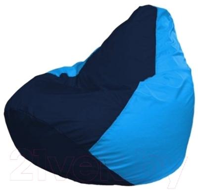 Бескаркасное кресло Flagman Груша Макси Г2.1-48 (темно-синий/голубой)
