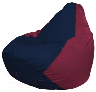 Бескаркасное кресло Flagman Груша Макси Г2.1-49 (темно-синий/бордовый)
