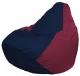 Бескаркасное кресло Flagman Груша Макси Г2.1-49 (темно-синий/бордовый) -