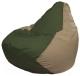 Бескаркасное кресло Flagman Груша Макси Г2.1-52 (темно-оливковый/темно-бежевый) -