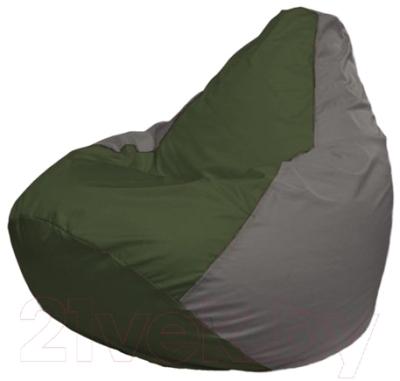 Бескаркасное кресло Flagman Груша Макси Г2.1-53 (темно-оливковый/серый)