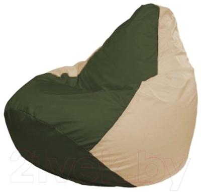 Бескаркасное кресло Flagman Груша Макси Г2.1-54 (темно-оливковый/светло-бежевый)