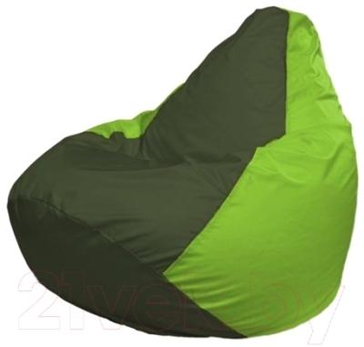 Бескаркасное кресло Flagman Груша Макси Г2.1-55 (темно-оливковый/салатовый)