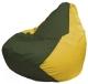 Бескаркасное кресло Flagman Груша Макси Г2.1-57 (темно-оливковый/желтый) -