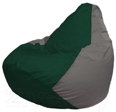 Бескаркасное кресло Flagman Груша Макси Г2.1-61 (темно-зеленый/серый)