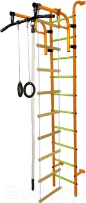 Детский спортивный комплекс Формула здоровья Аистенок-1А Плюс (оранжевый/салатовый)