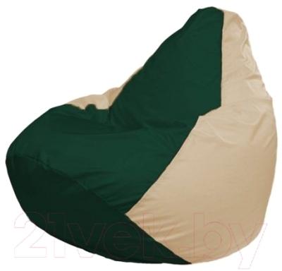 Бескаркасное кресло Flagman Груша Макси Г2.1-62 (темно-зеленый/светло-бежевый)