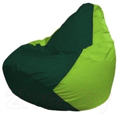 Бескаркасное кресло Flagman Груша Макси Г2.1-63 (темно-зеленый/салатовый)