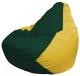 Бескаркасное кресло Flagman Груша Макси Г2.1-65 (темно-зеленый/желтый) -