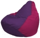 Бескаркасное кресло Flagman Груша Макси Г2.1-68 (фиолетовый/фуксия) -