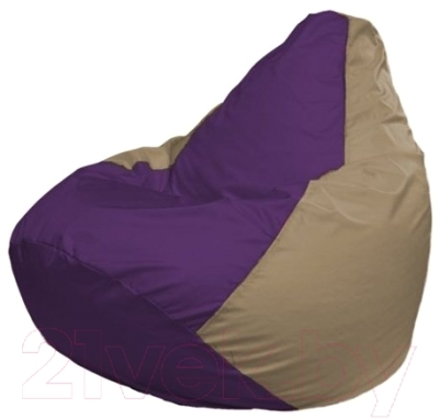 Бескаркасное кресло Flagman Груша Макси Г2.1-70 (фиолетовый/темно-бежевый)