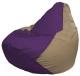 Бескаркасное кресло Flagman Груша Макси Г2.1-70 (фиолетовый/темно-бежевый) -