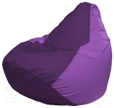Бескаркасное кресло Flagman Груша Макси Г2.1-71 (фиолетовый/сиреневый)