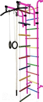 Детский спортивный комплекс Формула здоровья Аистенок-1А Плюс (розовый/радуга)