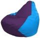 Бескаркасное кресло Flagman Груша Макси Г2.1-74 (фиолетовый/голубой) -