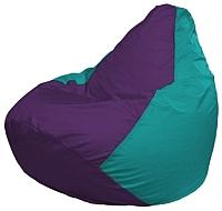 Бескаркасное кресло Flagman Груша Макси Г2.1-75 (фиолетовый/бирюзовый) -