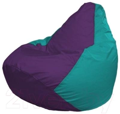 Бескаркасное кресло Flagman Груша Макси Г2.1-75 (фиолетовый/бирюзовый)