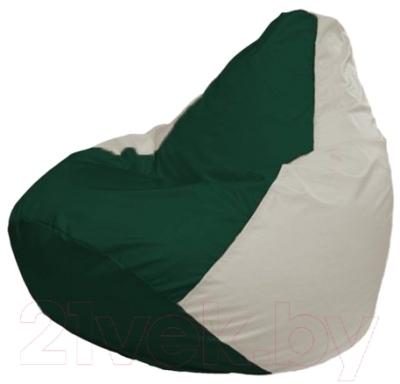 Бескаркасное кресло Flagman Груша Макси Г2.1-76 (темно-зеленый, белый)