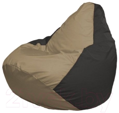 Бескаркасное кресло Flagman Груша Макси Г2.1-77 (темно-бежевый/черный)