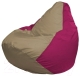 Бескаркасное кресло Flagman Груша Макси Г2.1-78 (темно-бежевый/фуксия) -