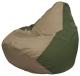 Бескаркасное кресло Flagman Груша Макси Г2.1-82 (темно-бежевый/темно-оливковый) -