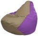 Бескаркасное кресло Flagman Груша Макси Г2.1-84 (темно-бежевый/сиреневый) -