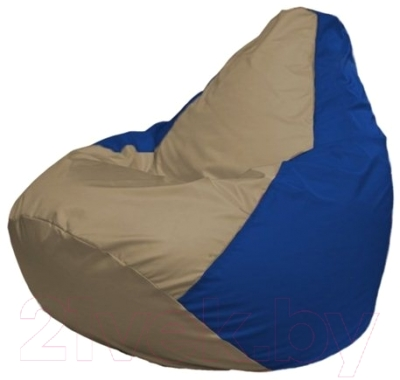 Бескаркасное кресло Flagman Груша Макси Г2.1-85 (темно-бежевый/синий)
