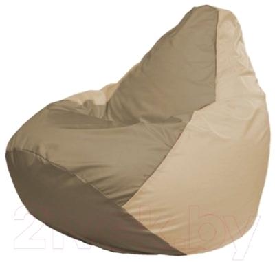 Бескаркасное кресло Flagman Груша Макси Г2.1-87 (темно-бежевый/светло-бежевый)