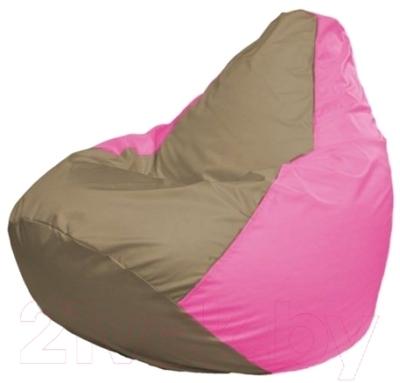 Бескаркасное кресло Flagman Груша Макси Г2.1-89 (темно-бежевый/розовый)