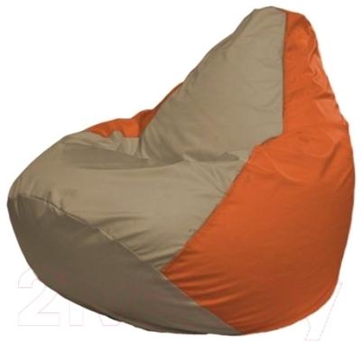 Бескаркасное кресло Flagman Груша Макси Г2.1-90 (темно-бежевый/оранжевый)