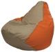 Бескаркасное кресло Flagman Груша Макси Г2.1-90 (темно-бежевый/оранжевый) -