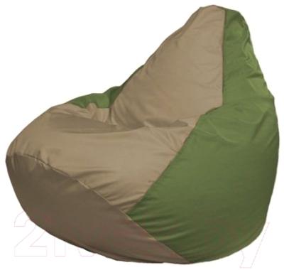 Бескаркасное кресло Flagman Груша Макси Г2.1-91 (темно-бежевый/оливковый)