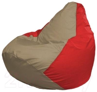 Бескаркасное кресло Flagman Груша Макси Г2.1-92 (темно-бежевый/красный)