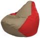 Бескаркасное кресло Flagman Груша Макси Г2.1-92 (темно-бежевый/красный) -