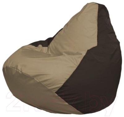 Бескаркасное кресло Flagman Груша Макси Г2.1-93 (темно-бежевый/коричневый)