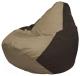 Бескаркасное кресло Flagman Груша Макси Г2.1-93 (темно-бежевый/коричневый) -