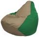 Бескаркасное кресло Flagman Груша Макси Г2.1-94 (темно-бежевый/зеленый) -