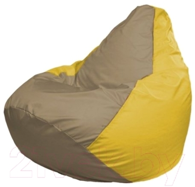 Бескаркасное кресло Flagman Груша Макси Г2.1-95 (темно-бежевый/желтый)