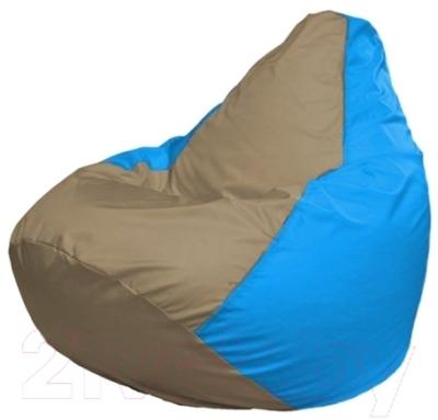 Бескаркасное кресло Flagman Груша Макси Г2.1-96 (темно-бежевый/голубой)