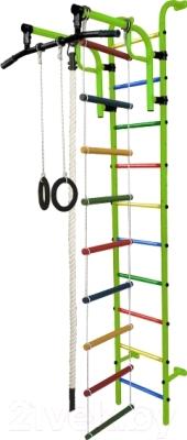 Детский спортивный комплекс Формула здоровья Аистенок-1А Плюс (салатовый/радуга)