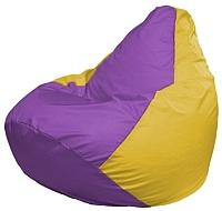 Бескаркасное кресло Flagman Груша Макси Г2.1-100 (сиреневый/желтый) -