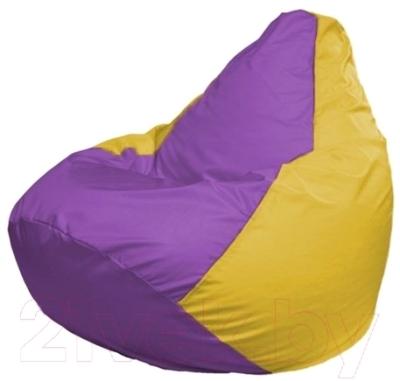 Бескаркасное кресло Flagman Груша Макси Г2.1-100 (сиреневый/желтый)