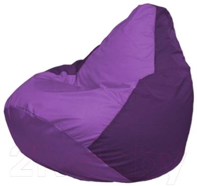Бескаркасное кресло Flagman Груша Макси Г2.1-102 (сиреневый/фиолетовый)