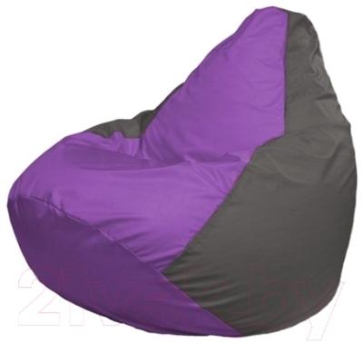 Бескаркасное кресло Flagman Груша Макси Г2.1-103 (сиреневый/темно-серый)