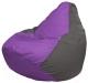 Бескаркасное кресло Flagman Груша Макси Г2.1-103 (сиреневый/темно-серый) -